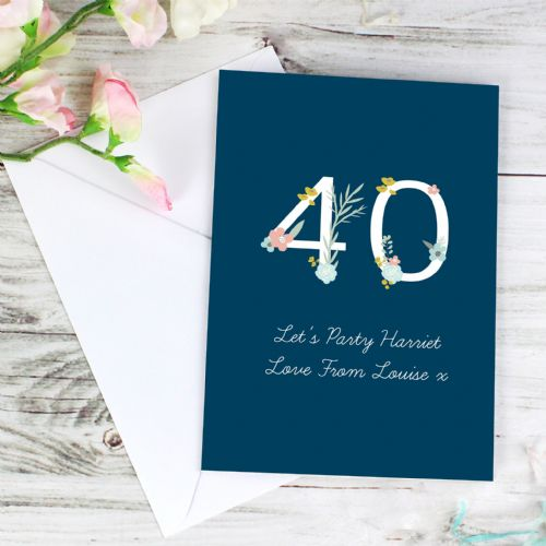 Personalised Floral Birthday Card